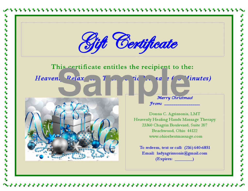 Massage Gift Certificates Available