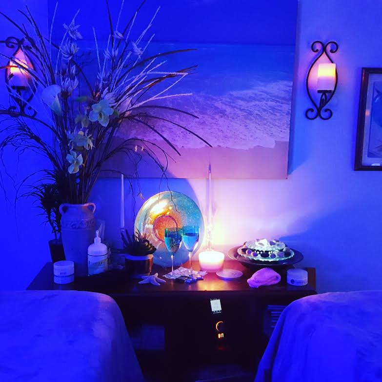 tranquil massage room