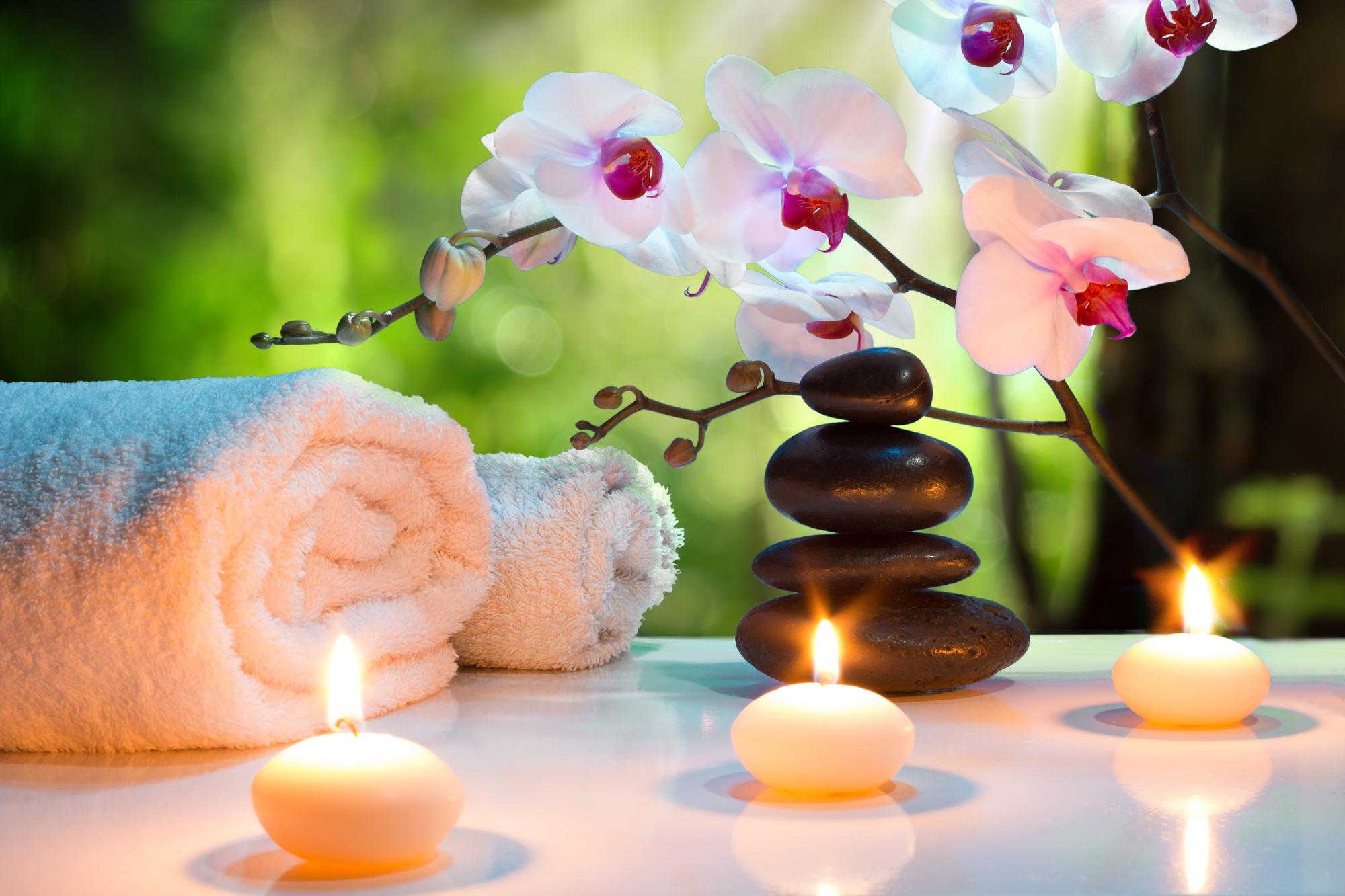 soothing hot stone massage